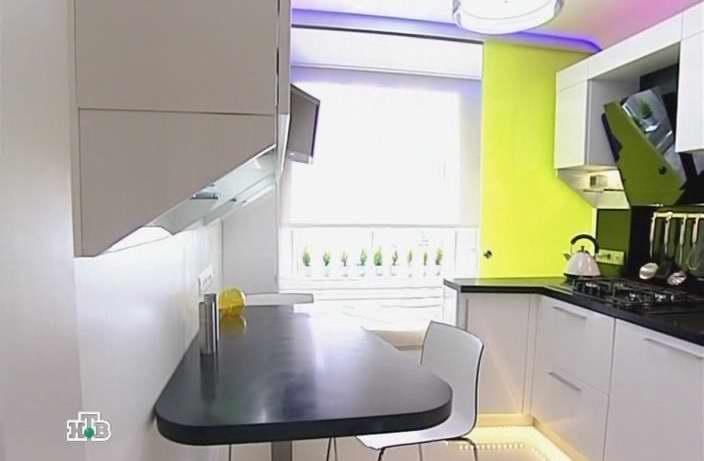 Дизайн кухни со спальным местом 9 квм 4