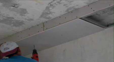 Как сделать короб из гипсокартона для натяжного потолка