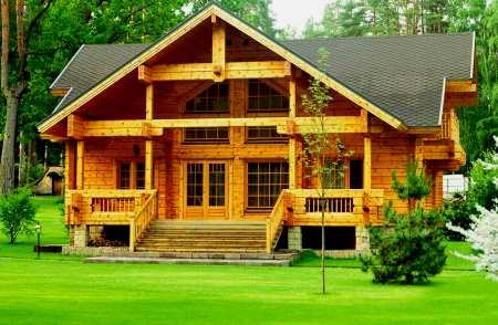 Использование дерева в строительстве домов