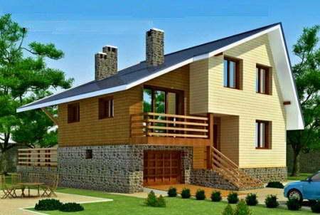 Проекты деревянных домов с гаражом & мансардой