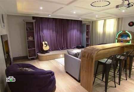 Дачный ответ (06-11-2016) Ретро стиль гостиной в подвале